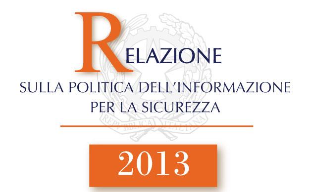 Relazione al Parlamento 2013